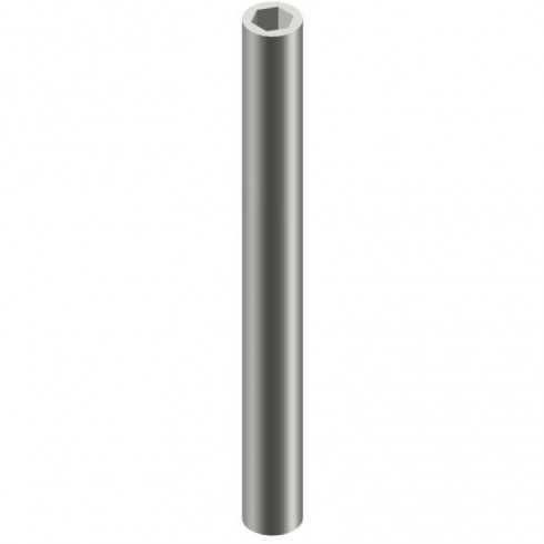 Funda de aluminio Ø12 Alu anodizado negro