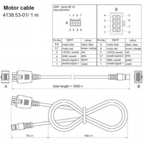 Cable conexión Actuador 4643 a controlador