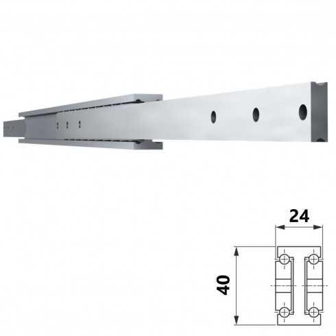 Guía SUPREME 4024-ACERO-INOX-ALU (50-250 kg)