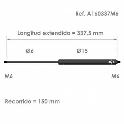 Resorte de gas A160337M6