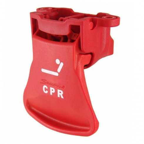 Maneta disparo vertical color rojo con logo CPR