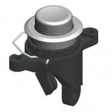 Pulsador de botón con brida de amarre posterior