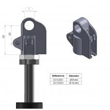 Accionamiento para resorte de gas con bloqueo  - Compacto