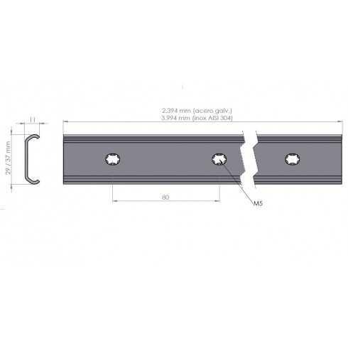 Carril 11x37 mm para carro FlexFit-1537